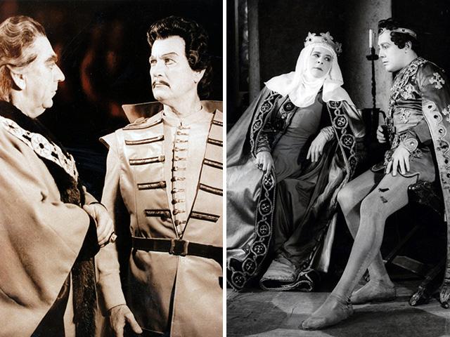 (balról) Radnai György és Simándy József, (jobbról) Gobbi Hilda és Kállai Ferenc a Bánk Bán c. operában