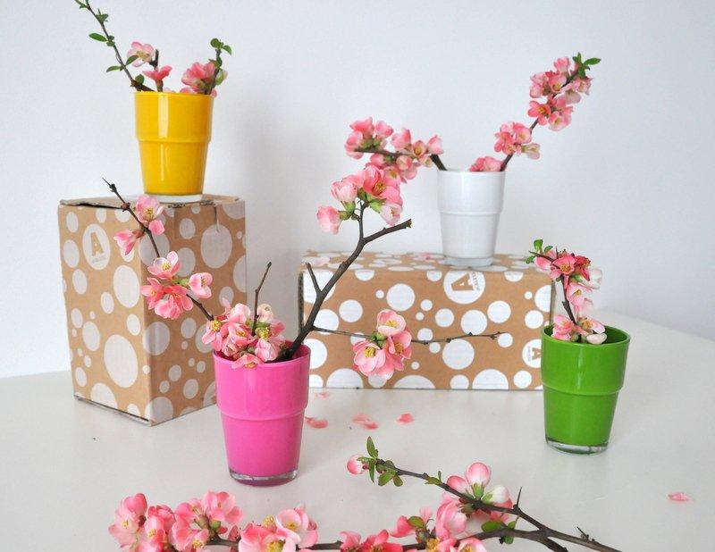 Egyszerű pohárból design váza