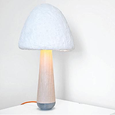 Valódi gombából készül az asztali lámpa