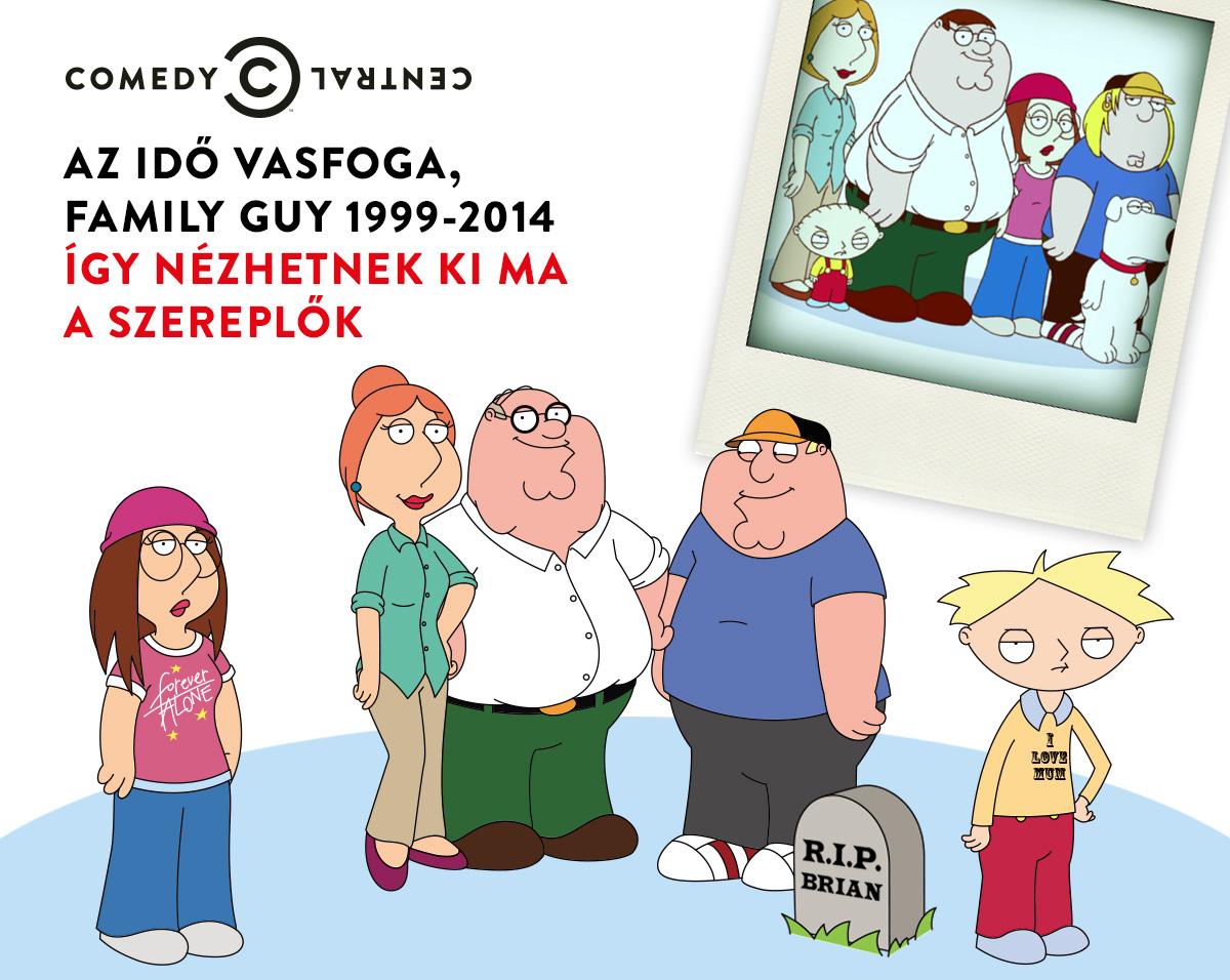 Így néznének ki a Family Guy szereplői, ha öregednének - fotó