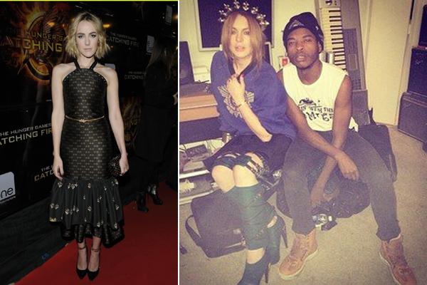 Jena Malone és Lindsay Lohan, Abodi Dóra ruhákban