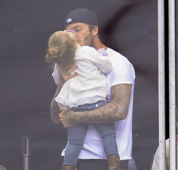 David Beckham majd' felfalta lányát