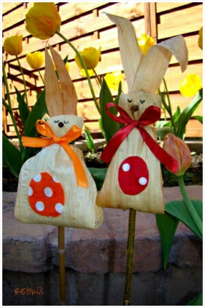 Húsvéti dekoráció újrahasznosított alapanyagokból