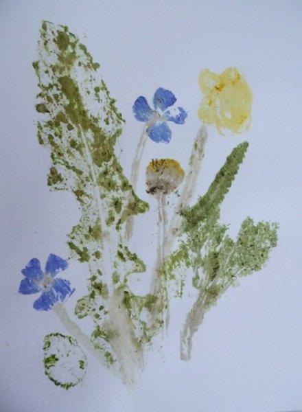 Csináld magad: nyomda levelekkel és virágokkal