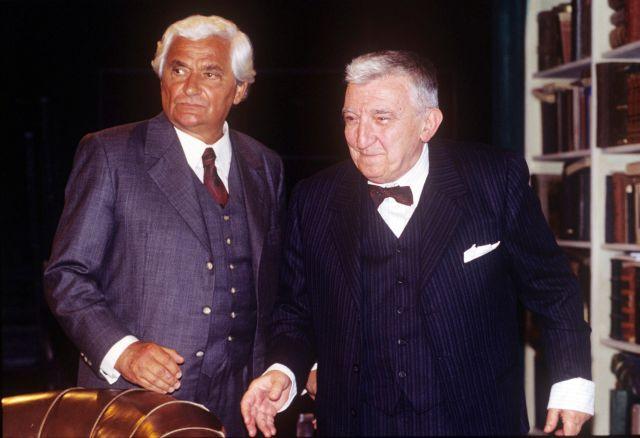 Sinkó László és Gera Zoltán Honderű c. darab próbáján 2000-ben