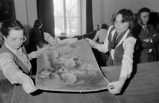 Visszakerülnek a műkincsek a Szépművészetibe (Fotó: MTI, 1983)