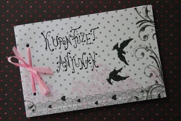 Ajándékötlet anyák napjára: kuponfüzet, saját kezűleg