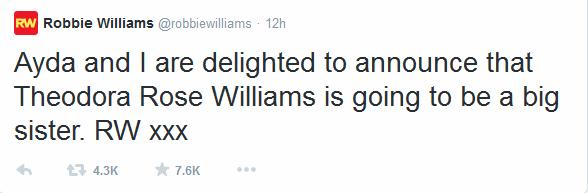 Kétszeres apuka lesz Robbie Williams - galéria