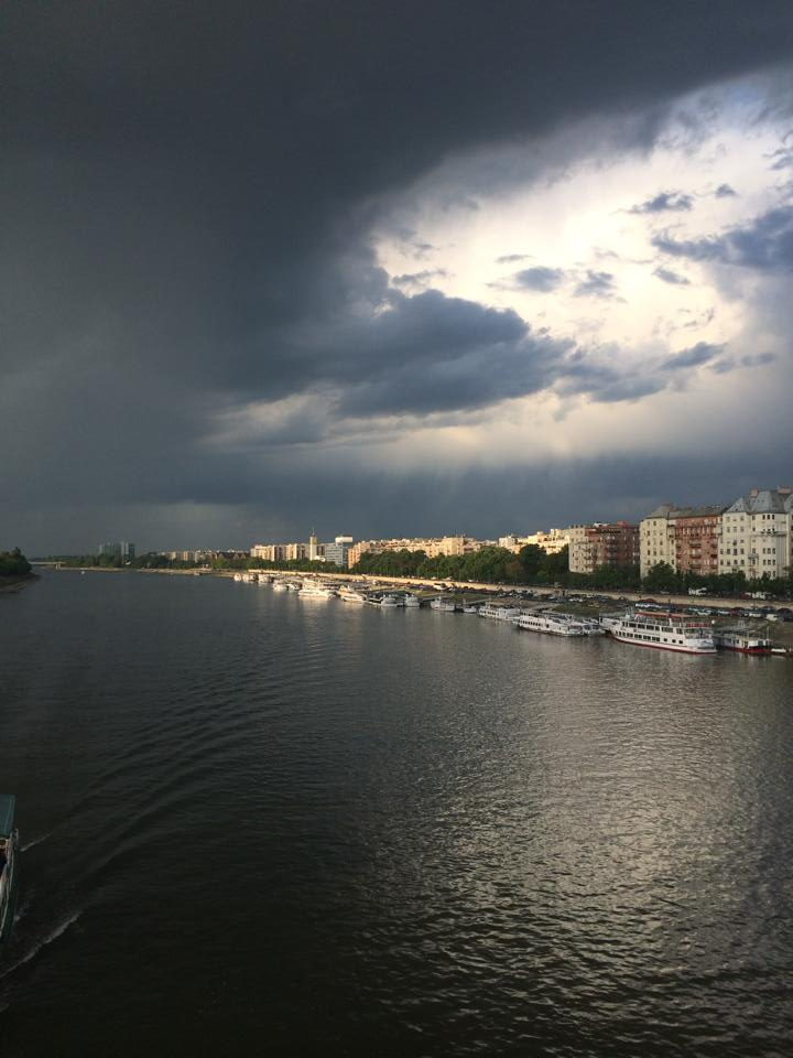 A szerdai vihar Budapesten (fotó: Tóth Péter)