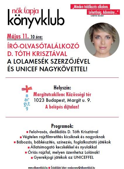 Nők Lapja könyvklub D. Tóth Krisztával