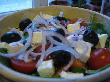 Rukkola saláta dióolajjal