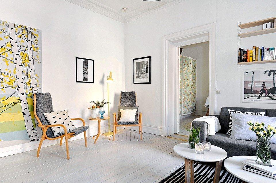 Természet a városban: skandináv otthon 52 négyzetnéteren