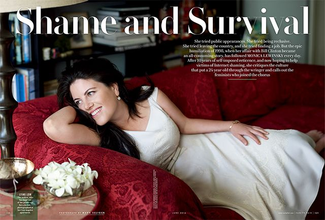 Monica Lewinsky a Vanity Fair magazinban