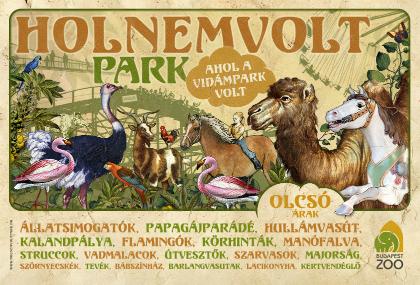 Vidámpark=Holnemvolt Park, immár az Állatkerthez csatolva