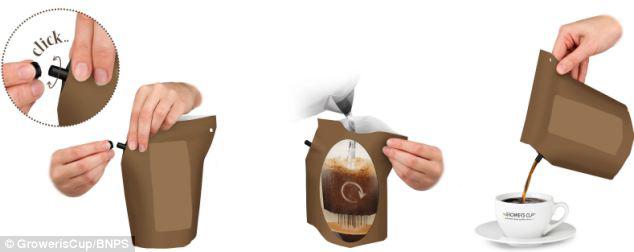 Itt az eldobható kávéfőző