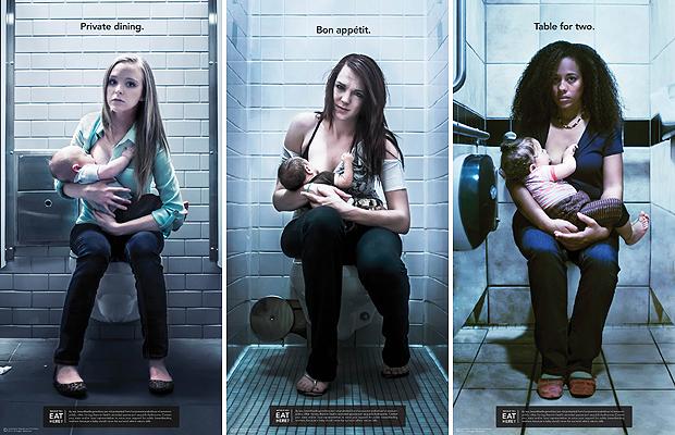 Gusztustalan képekkel kampányolnak a nyilvános szoptatásért