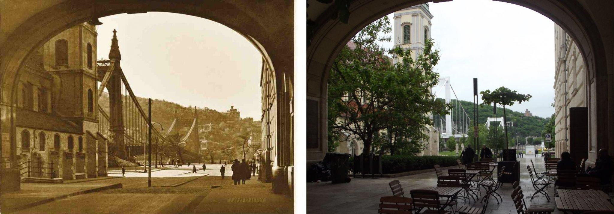 Erzsébet-híd egykor és most