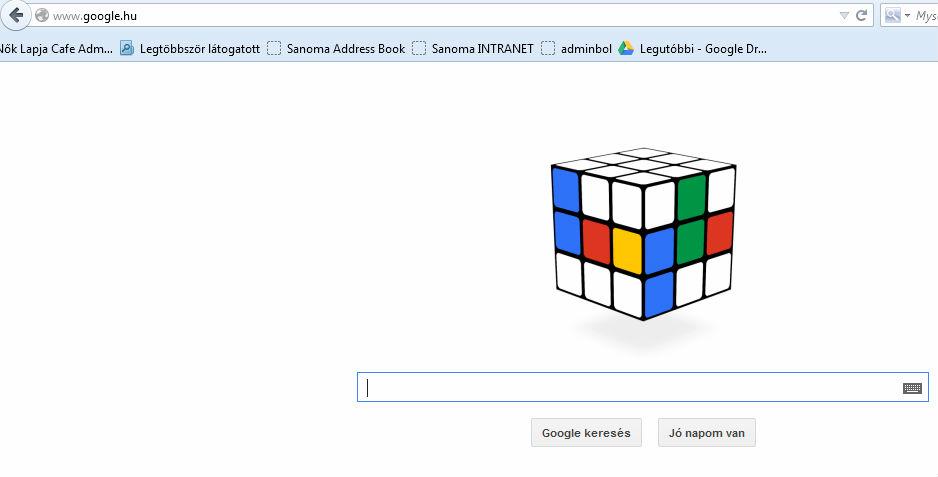 A Rubik-kockát ünnepli a Google