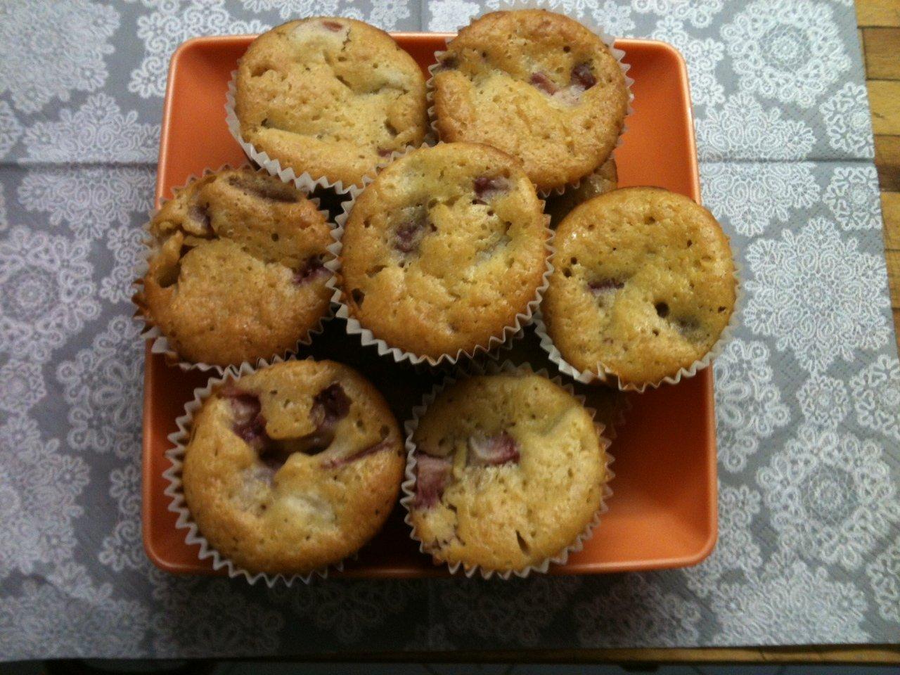 Epres-rebarbarás muffin