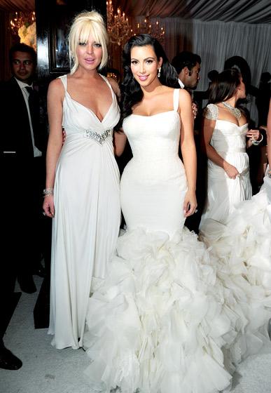 Lindsay Lohan Kim Kardashian első esküvőjén