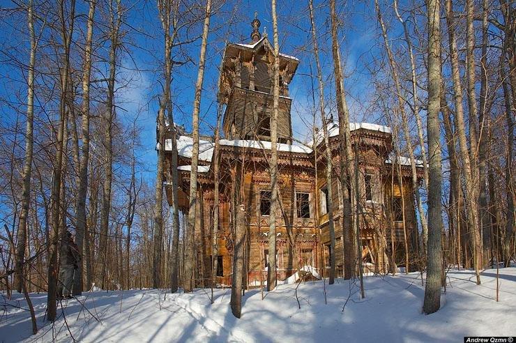 Elhagyott dácsák az orosz erdők mélyén