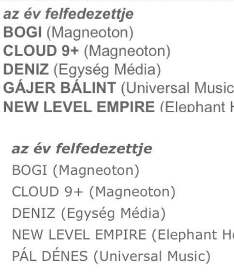 A jelöltek listája, amin Gájer Bálint nevét Pál Dénesére cserélték