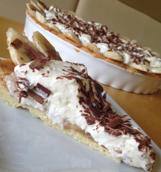 Banoffee pie - azaz karamellás banántorta