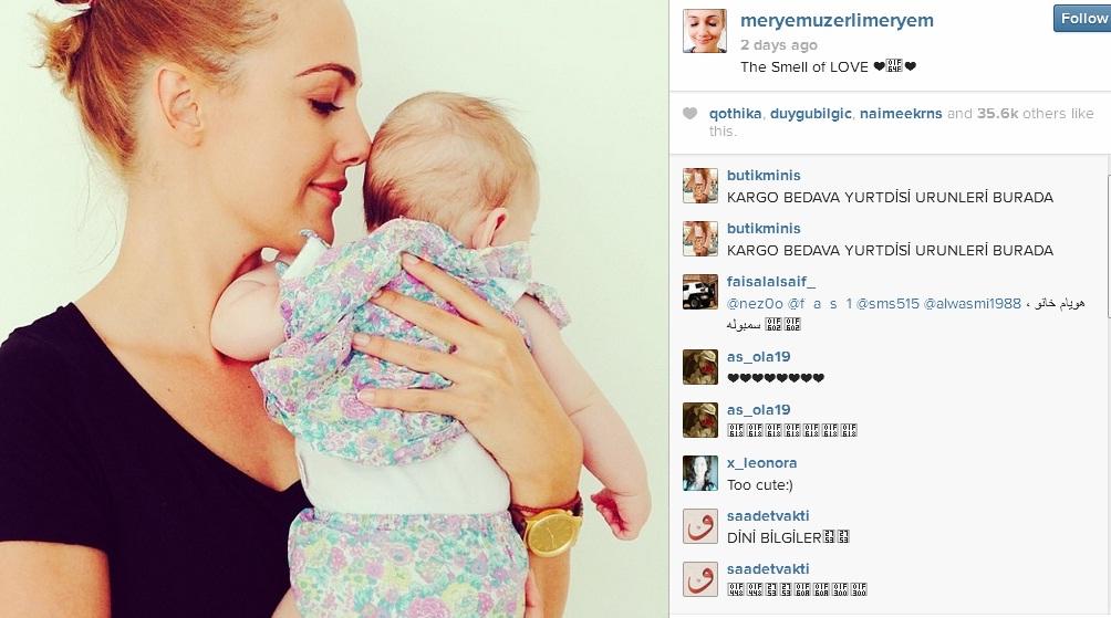 Megmutatta a kislányát a Szulejmán Hürreme - fotók