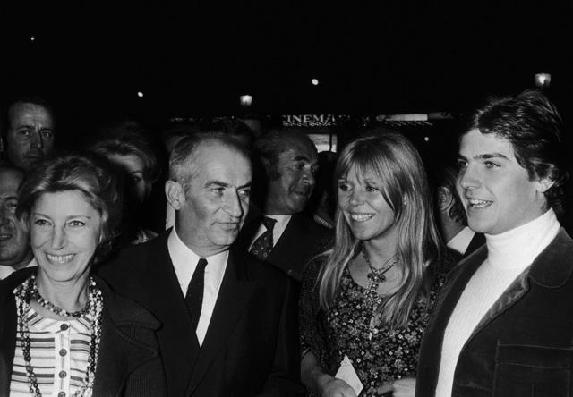 Jeanne de Maupassant, Luis de Funes és jobb oldalon fia Olivier de Funes