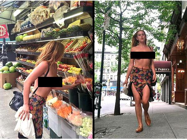 Topless demonstrációba kezdett Bruce Willis lánya - fotó