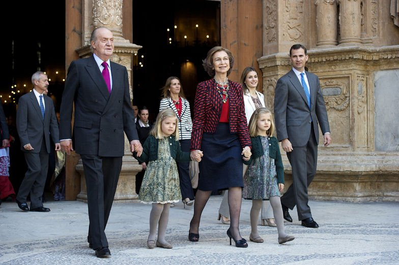 I. János Károly király,Zsófia és Leonor hercegnő, Fülöp herceg és Zsófia királyi hercegnő