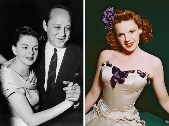 Judy és Sid Luft (bal oldalon), és a 23 éves Judy (jobb oldalon)