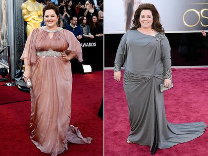 Melissa McCarthy a 2012-es és 2013-as Oscar-gálán