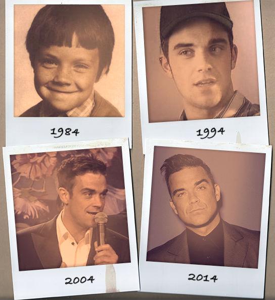 Robbie Williams elmúlt 30 éve egyetlen fotón
