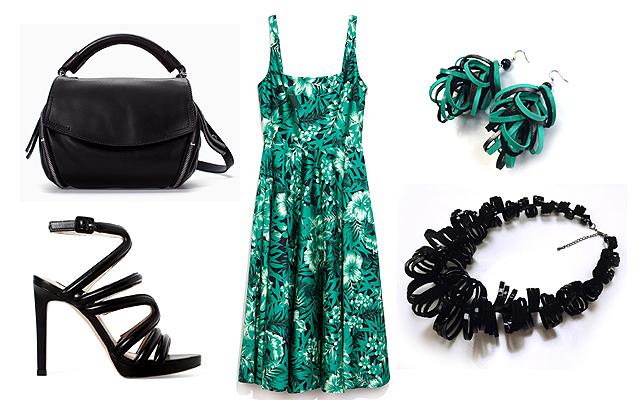 Ruha, táska, szandál: Zara, ékszerek: Zwana Modular Jewelry