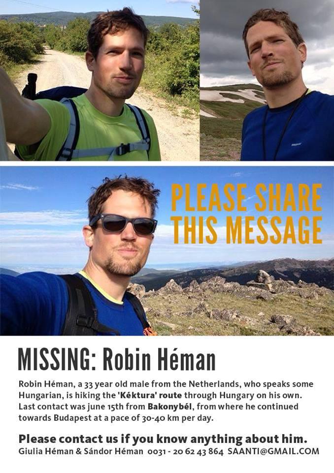 Eltűnt egy holland túrázó a Bakonyban