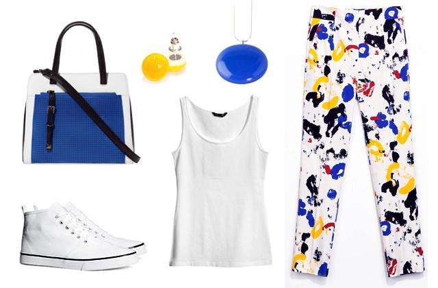 Trikó, cipő: H&M, nadrág, táska: Zara, ékszerek: Bigyó Művek