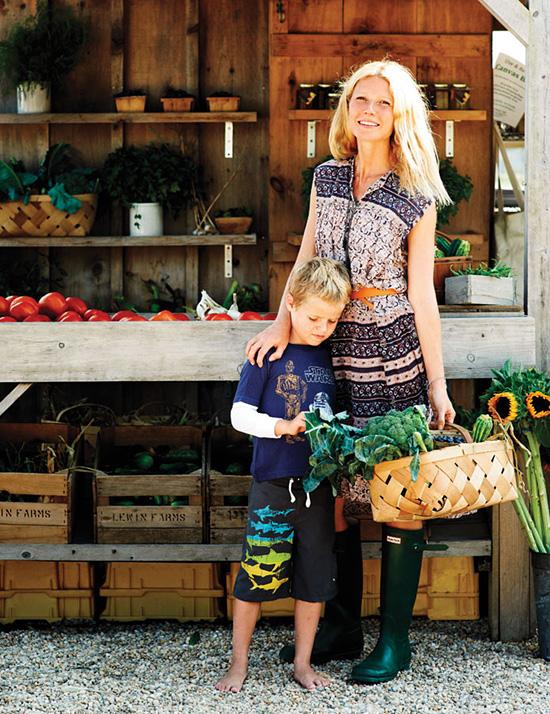Gwyneth és fia Moses (Fotó: chatelaine.com)