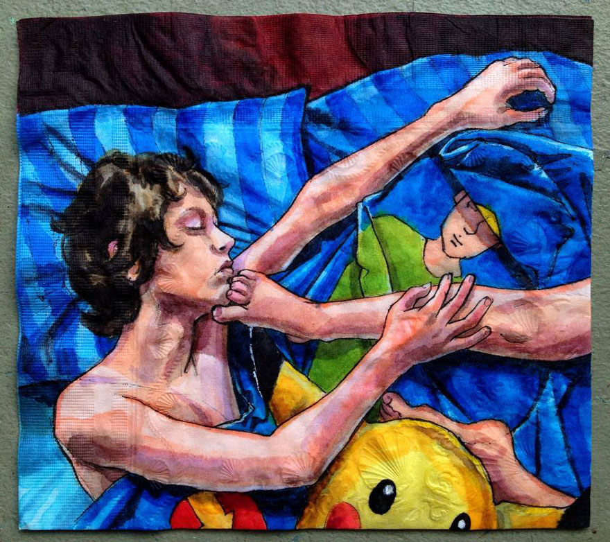 Elképesztő festményekbe csomagolja a gyerekei tízóraiját