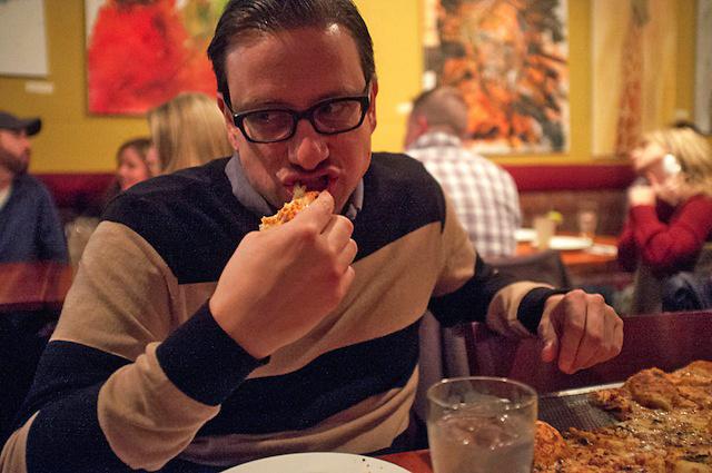 25 éve pizzán él, mellette cukorbeteg és vegetáriánus. Köszöni, jól van.