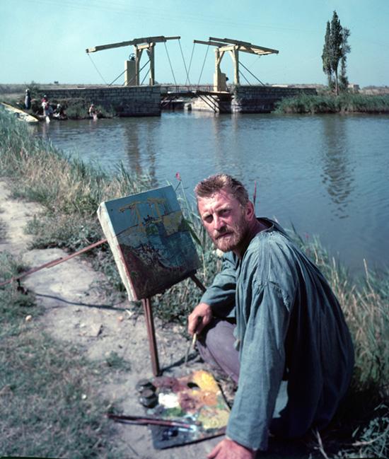 Kirk Douglas, Van Gogh szerepében, a Nap szerelmese c. filmben