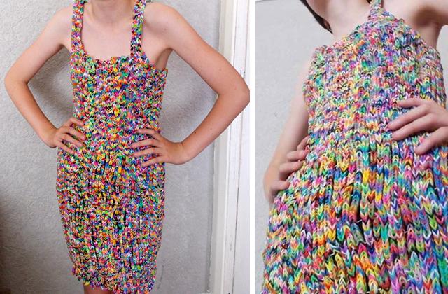 Az első Rainbow Loom ruha