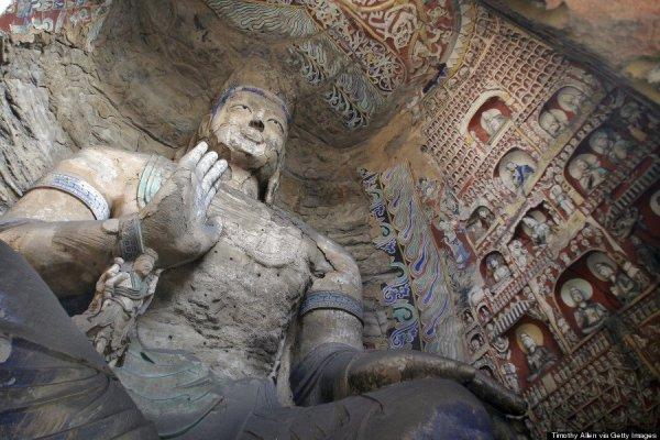 Yungang Grottoes, Shanxi, Kína
