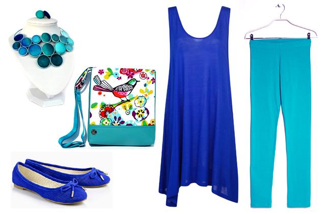 Tunika, leggings: Mango, ékszerek: Koria Design, táska: Suzi Art Bag, cipő: Buffalo
