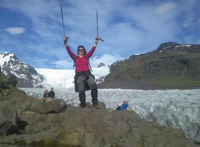 Izlandon egy gleccsertúrán