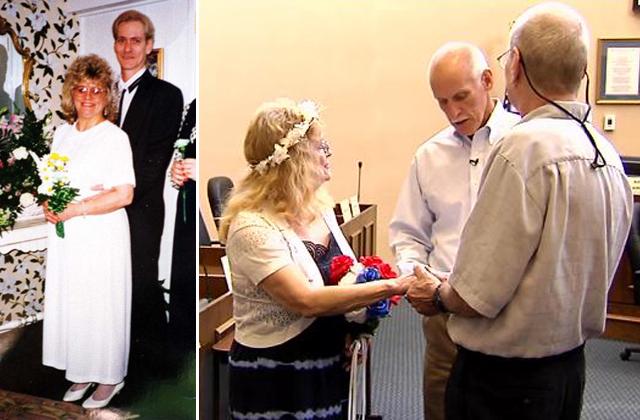 Az első és a legutóbbi esküvőn