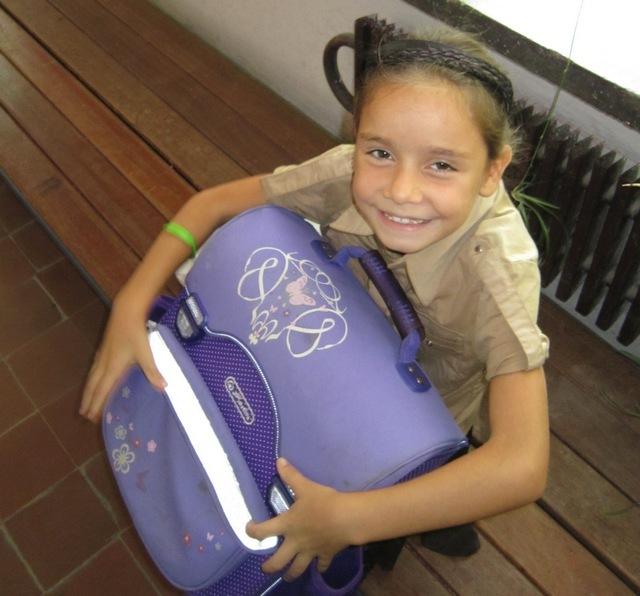 Ő a tolltartós kislány. Fotó: Gilicze Réka