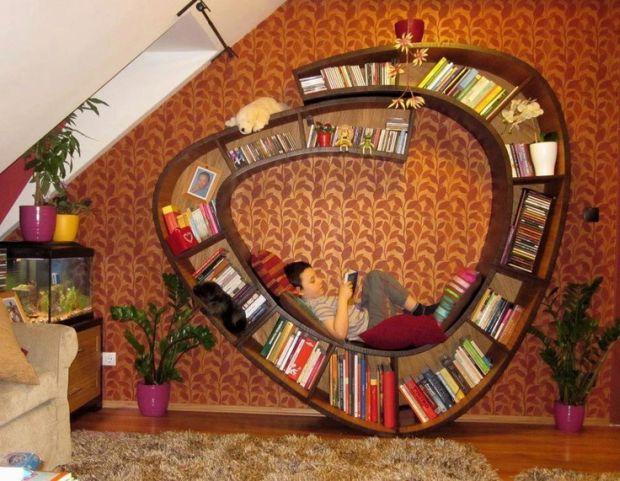 30 menő könyvespolc, amitől át akarod rendezni a lakásodar