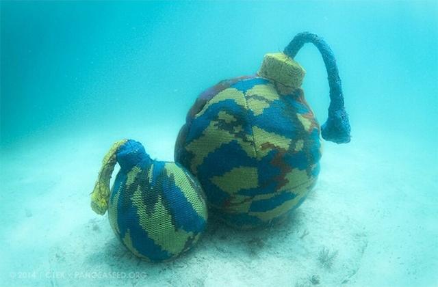 A víz alatt is lehet kötni - fotók