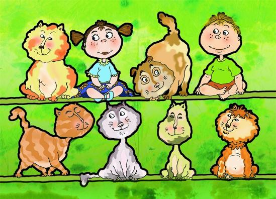 Napi mese: 10 kicsi cica